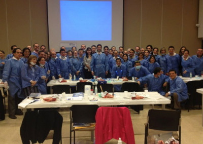 Dr. Jovanovic giving his hands-on advanced course in South America
